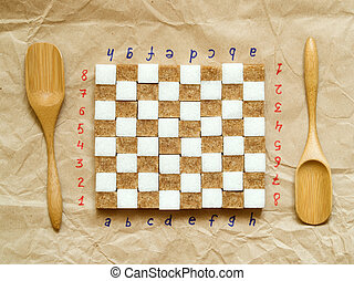 lump sugar - Chessboard from lump sugar