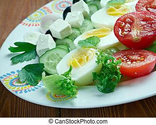 salade composee du soleil - Mediterranean saladFrench...