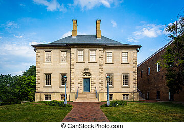 The historic Carlyle House, in Alexandria, Virginia.
