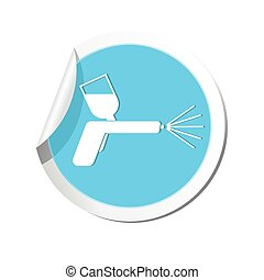 Spray gun icon. Vector illustration