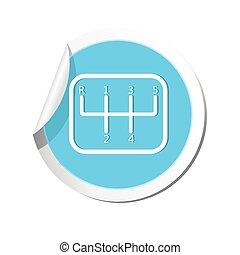 Stick shift icon