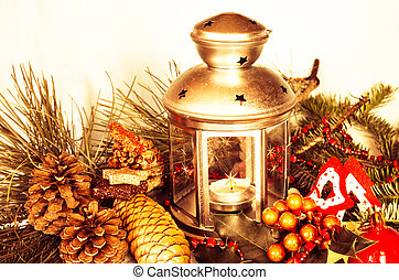 christmas decoration - christmas candlestick decoration...