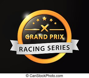 Grand prix racing golden badge