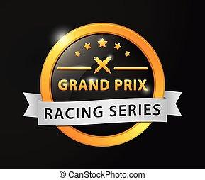 Grand prix racing golden badge