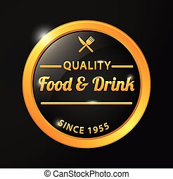 Quality food and drink golden badge