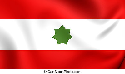 Flag of Trucial States 1820-1971 - 3D Flag of the Trucial...