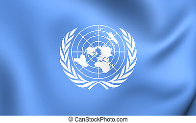 Flag of the United Nations - 3D Flag of the United Nations...