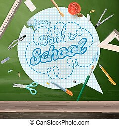 Back to school, concept still life. EPS 10 - Back to school...
