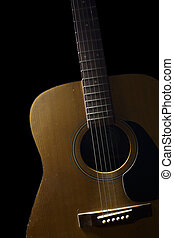 Guitar - The wooden guitar. Beautiful of shape  is curve.