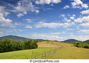 Polonina in the Carpathian mountains - Polonyna is a...