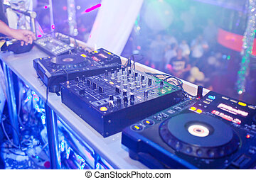 Mixing Console at the night club.