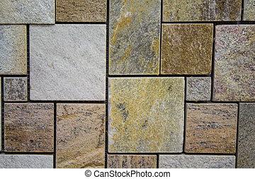 Texture mosaic wall