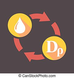Exchange sign with a fuel drop and a drachma sign -...