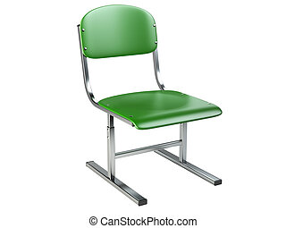 The green office chair.