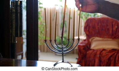 7 candles lit hd