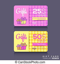 Colorful Gift card Design Template