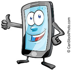 mobile phone cartoon