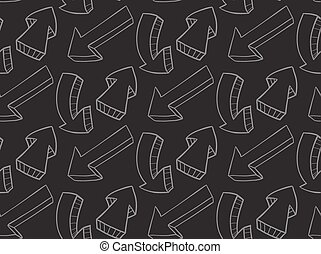 pattern with arrows of chalk - Seamless pattern with arrows...