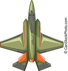 Modern design of jet plane