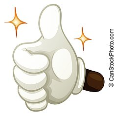 Hand gesture thumb up
