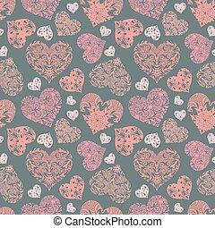 Bright openwork seamless pattern - Pale openwork seamless...
