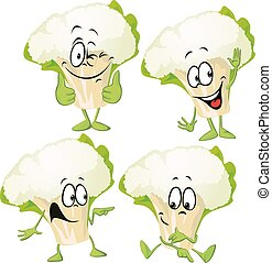 cauliflower - funny vector cartoon