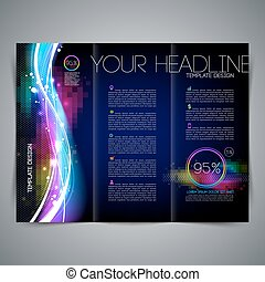 Vector template page design