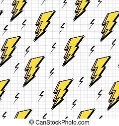 Retro 80s lightning bolts pattern - Retro vintage 80s...