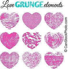 Brutal grunge background - Collection of 9 pink brutal...