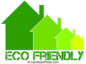 eco friendly house - sign of eco friendly house