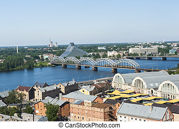 Riga - View at Riga city from above, Latvia