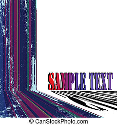 text card grunge stripes