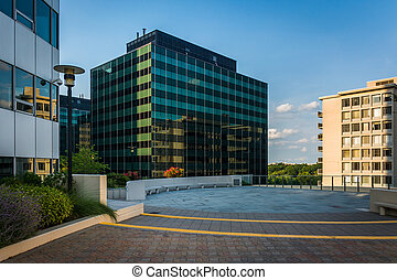 Freedom Park and modern buildings in Rosslyn, Arlington,...