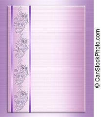 Wedding invitation border elegant lavender