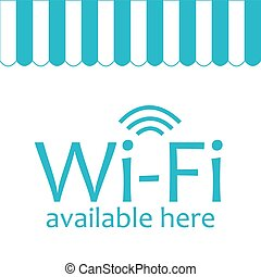 Wifi Hotspot - White background with text for wifi hotspots...