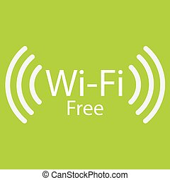 Wifi Hotspot - Colored background with a wifi hostpot signal...