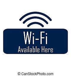 Wifi Hotspot - Isolated mobile phone silhouette with text as...