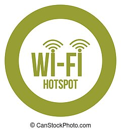 Wifi Hotspot - Round label for a wifi hotspot. Vector...