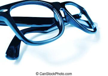 black plastic rimmed eyeglasses