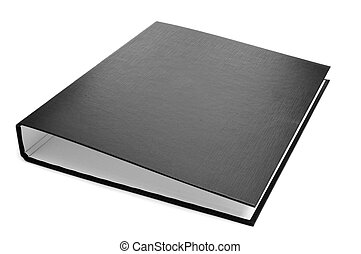 black ring binder - a new black ring binder on a white...