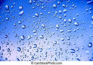 Blue   background with drop water