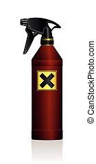 Spray Bottle Poison Harmful Danger - Poison spray bottle for...
