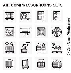 Icons - Air compressor icons sets