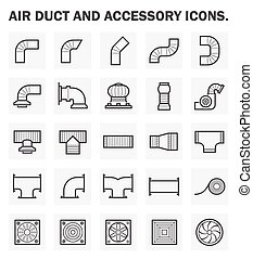 Icons - Air duct and accessory icon sets.