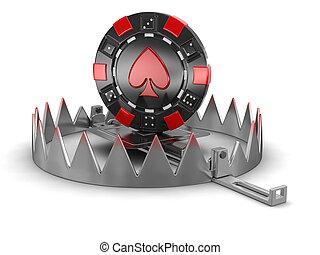 Trap and chip of casino - Trap and chip of casino. Image...