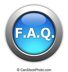 faq button isolated on a white background