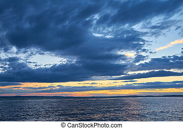 Sky - Clouds in the sky above Lake Constance.