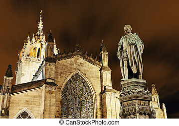 St Giles' Cathedral with Duke of Buccleuch (Walter Scott)...