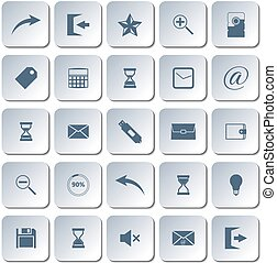 Set of web icons, vector