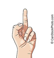 hand drawing middle finger - Vector hand drawing middle...
